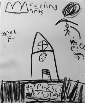 'Happiness' 12-05-2017 Vine Charcoal on Paper