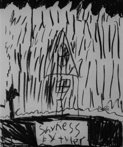 'Shyness' 12-05-2017 Vine Charcoal on Paper